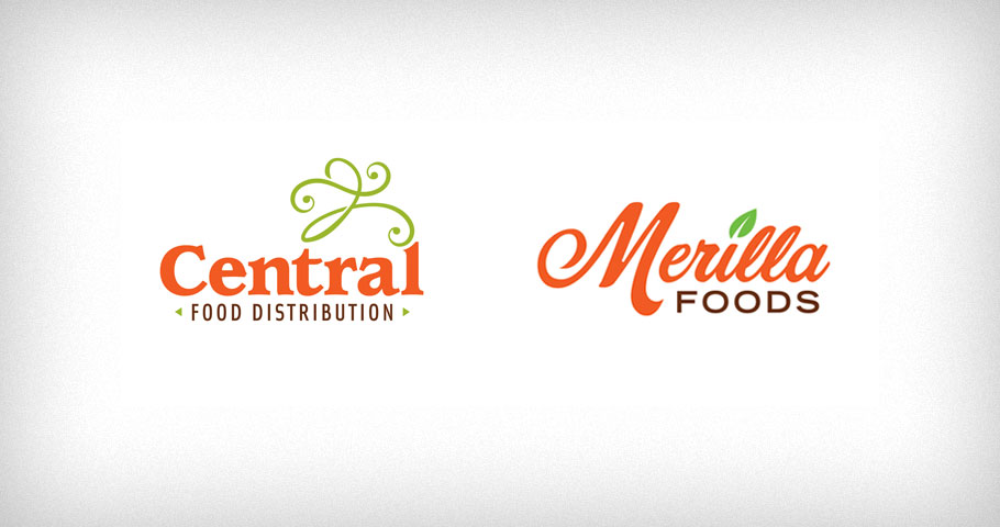 Logos for Central Food Distribution and Merilla Foods, two Dubai based food service companies.