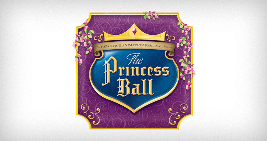 Logo for the Red Stick International Animation Festival event, The Princess Ball.