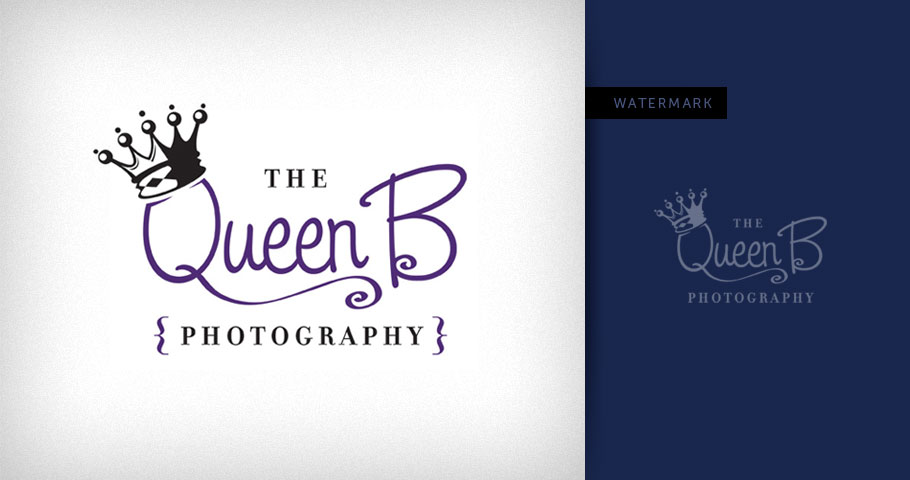 Logo for Houston based photographer, The Queen B Photography.