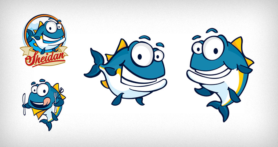 Tuna illustrations for Dubai based Sheidan Foods.