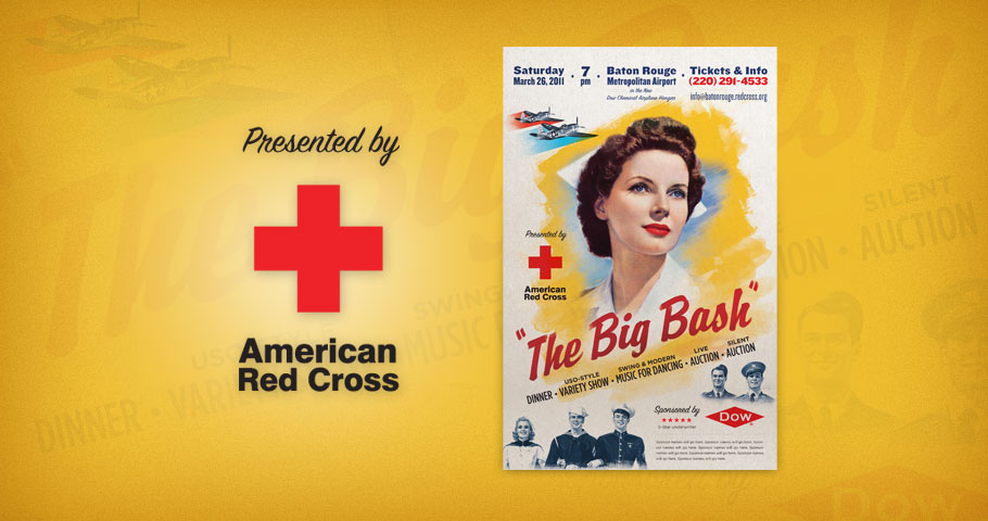 Poster for a Red Cross fundraising event.