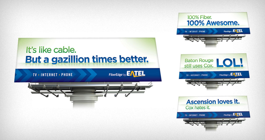 Outdoor campaign for EATEL.