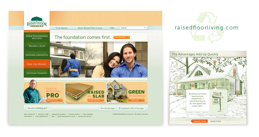 Website design for Raised Floor Living
